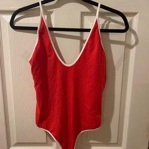 Red Thong Bodysuit